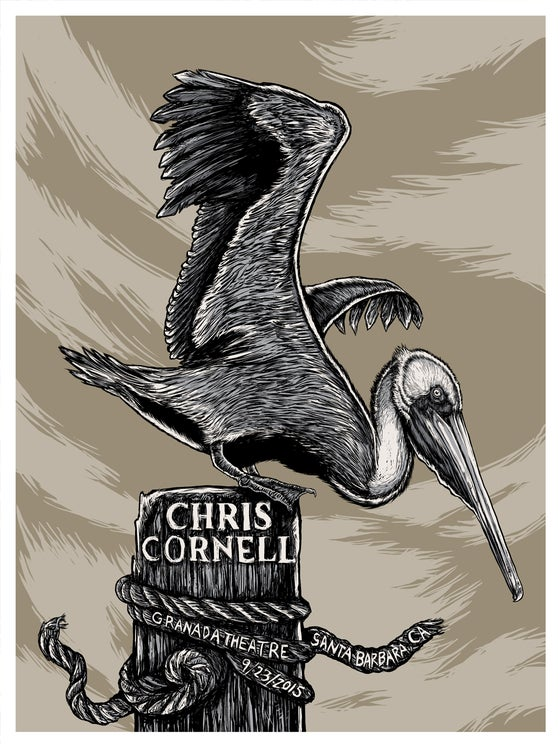 Image of CHRIS CORNELL - GIG POSTER - SANTA BARBARA,CA - 9/23/15