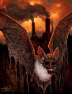 """Image of The Bat Escapes- Canvas Giclee 11x14"""""""