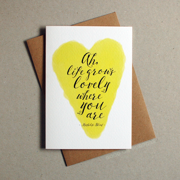 Image of Ah, Life Grows Lovely! Greeting Card
