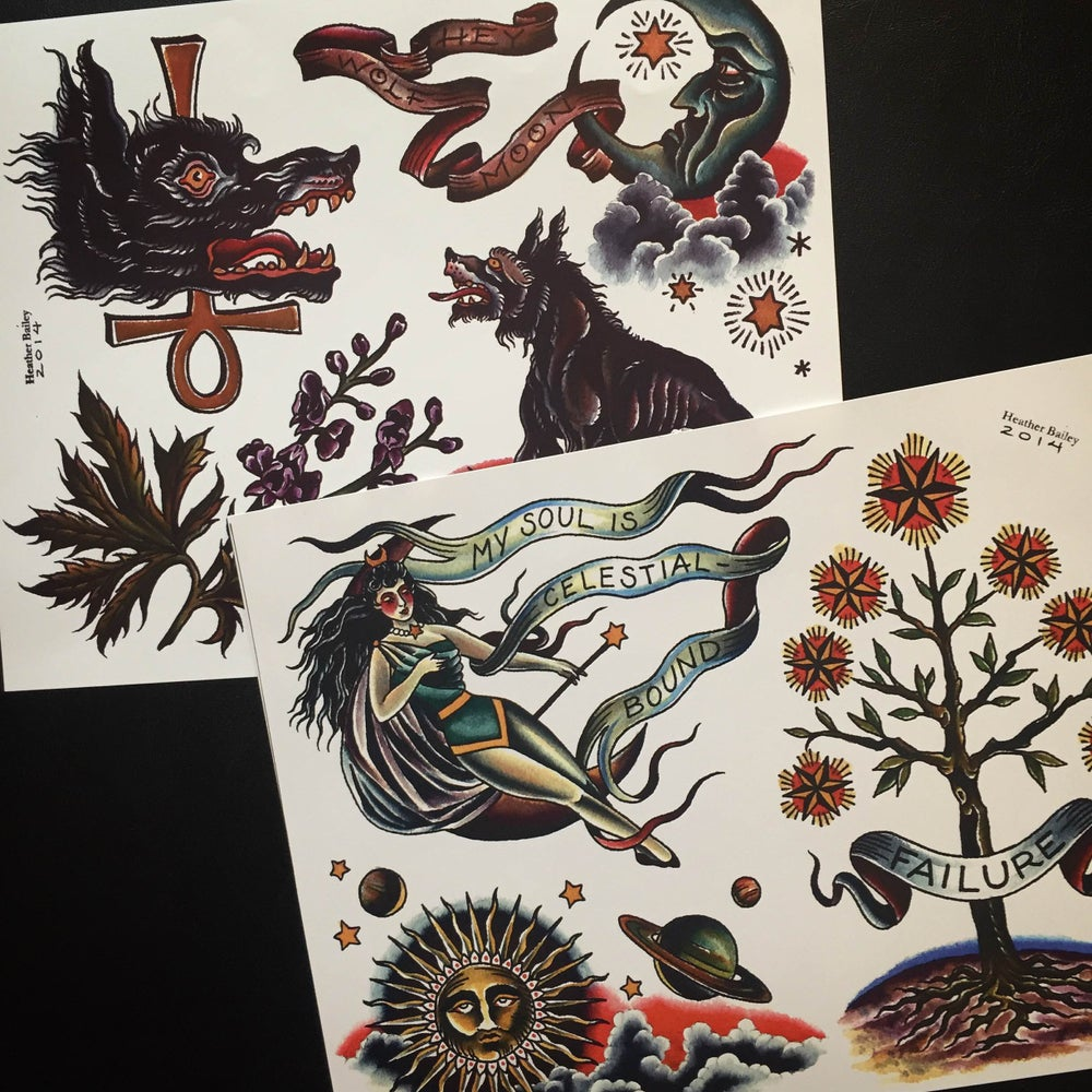 Image of Tattoo Flash Set