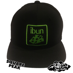 Image of ibun cheese limited edition snapback hat (only 25 square / 25 circle peak made)