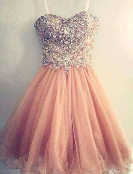 Glam Sparkle Beaded Tull Prom Dresses 2016, Tulle Homecoming Dresses,Short Party Dresses