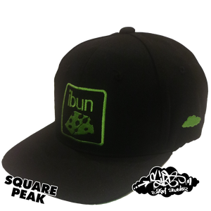 Image of ibun cheese limited edition snapback hat (only 25 square peak available)