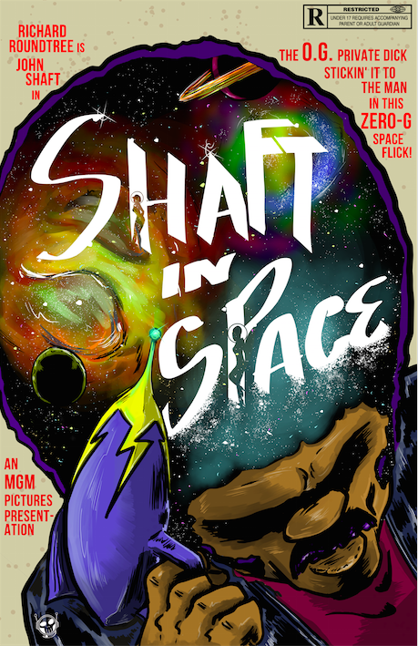 Image of Richard Roundtree SHAFT IN SPACE SpaceGrind Print