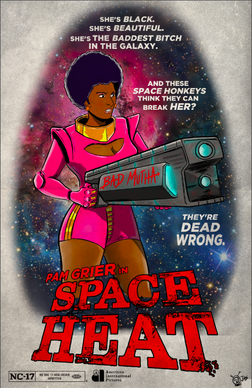 Image of Pam Grier SPACE HEAT SpaceGrind Print