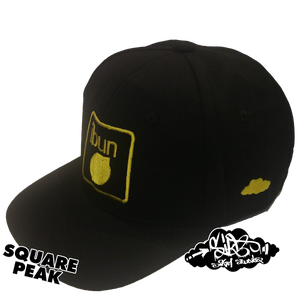 Image of ibun lemon limited edition snapback hat (only 25 square peak available)