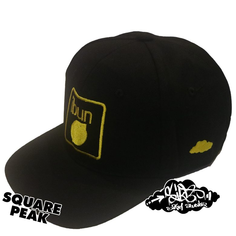 Image of ibun lemon limited edition snapback hat (only 25 square peak / 25 round peak made)