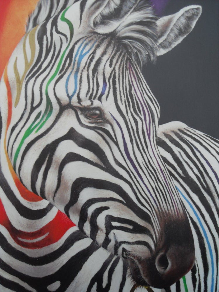 """Image of HAYLEY GOODHEAD """"SHOW YOUR COLOURS"""" - LTD ED OF 195, FRAMED CANVAS - 53CM X 72CM"""