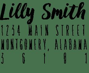 Image of Brush Script Address Stamp