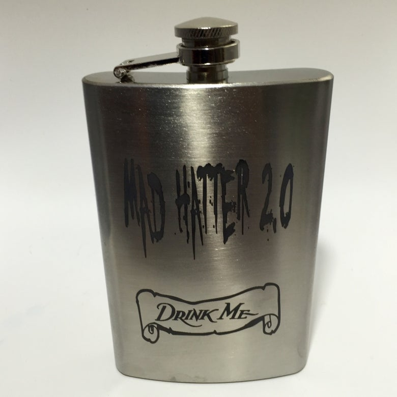 Image of Stainless Steel Engraved Hip Flask