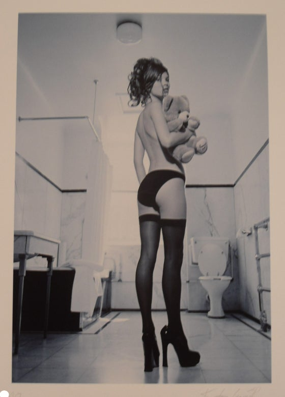 "Image of KATE GARNER ""KATE MOSS"" - COLD BLUE LIMITED EDITION OF JUST 10 - 22.2CM X 30.5CM"