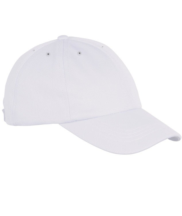 Image of 6 PANEL CAP // PURE WHITE