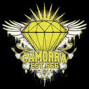 Image of diamond chest piece tshirt!!! (black)