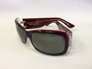 Image of Crown Deluxe Sunglasses-Muertos Maroon/Red