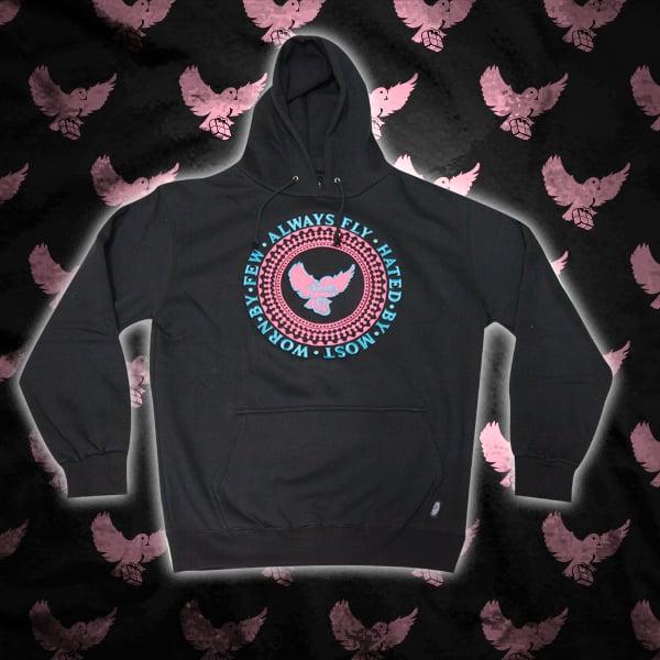 Image of Black/Pink/Lt.Blue Birdies Crest Hoodie