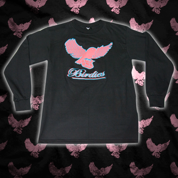 Image of Black/Pink/Lt.Blue Pattern Birdies Long Sleeve T Shirt