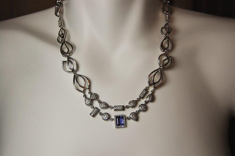 Image of Tratti Diamonds & Iolite  necklace