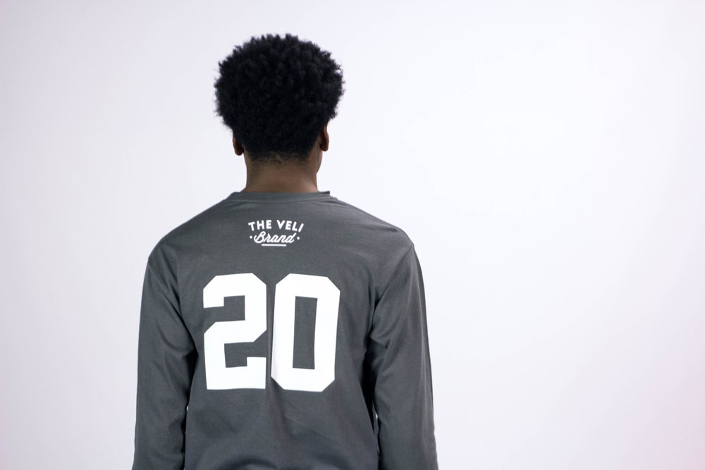 Image of Charcoal Grey Veli Brand Shirt (Long Sleeve)