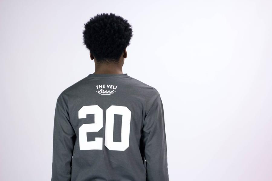 Image of Charcoal Grey Veli Brand Shirt (Long Sleeve)