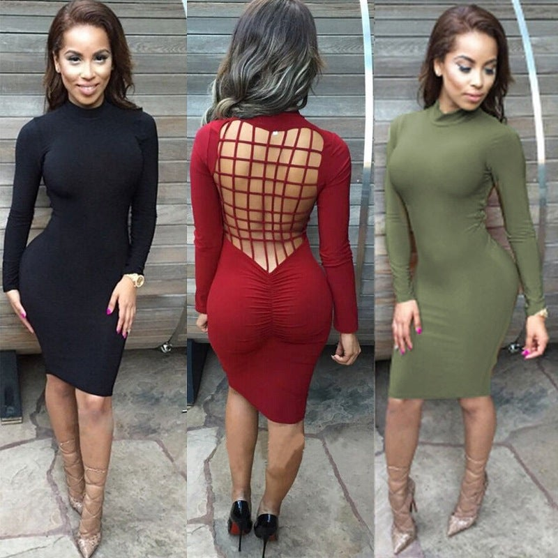 Image of HOT SEXY CUTE LONG SLEEVE DRESS HIGH QUALITY