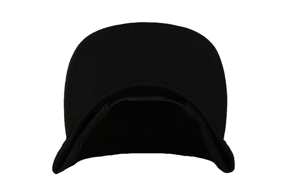 Image of The GL Leaf Snapback Hat in Black