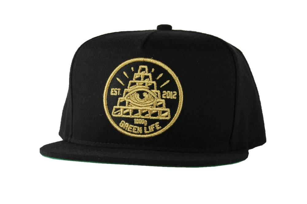 Image of The Pyramid Snapback Hat in Black e663efb35f1