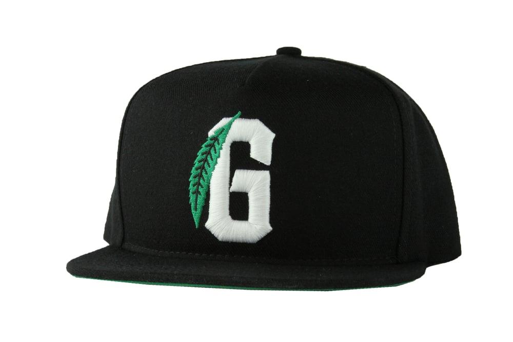 Image of The G Leaf Snapback Hat in Black