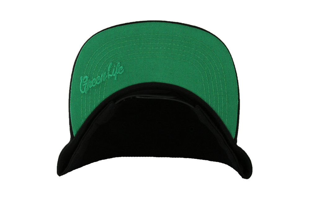 Image of The G Leaf Snapback Hat in Black