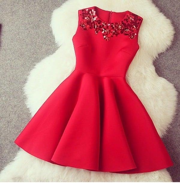 Pretty Red Short Formal Dresses Winter Formal Dresses