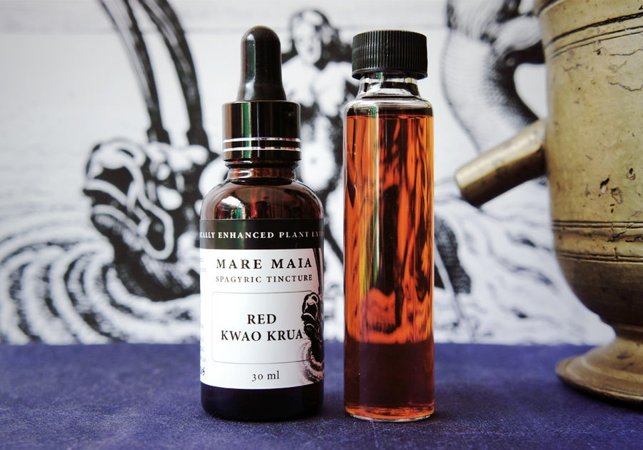 Image of RED KWAO KRUA spagyric tincture - alchemically enhanced plant extraction