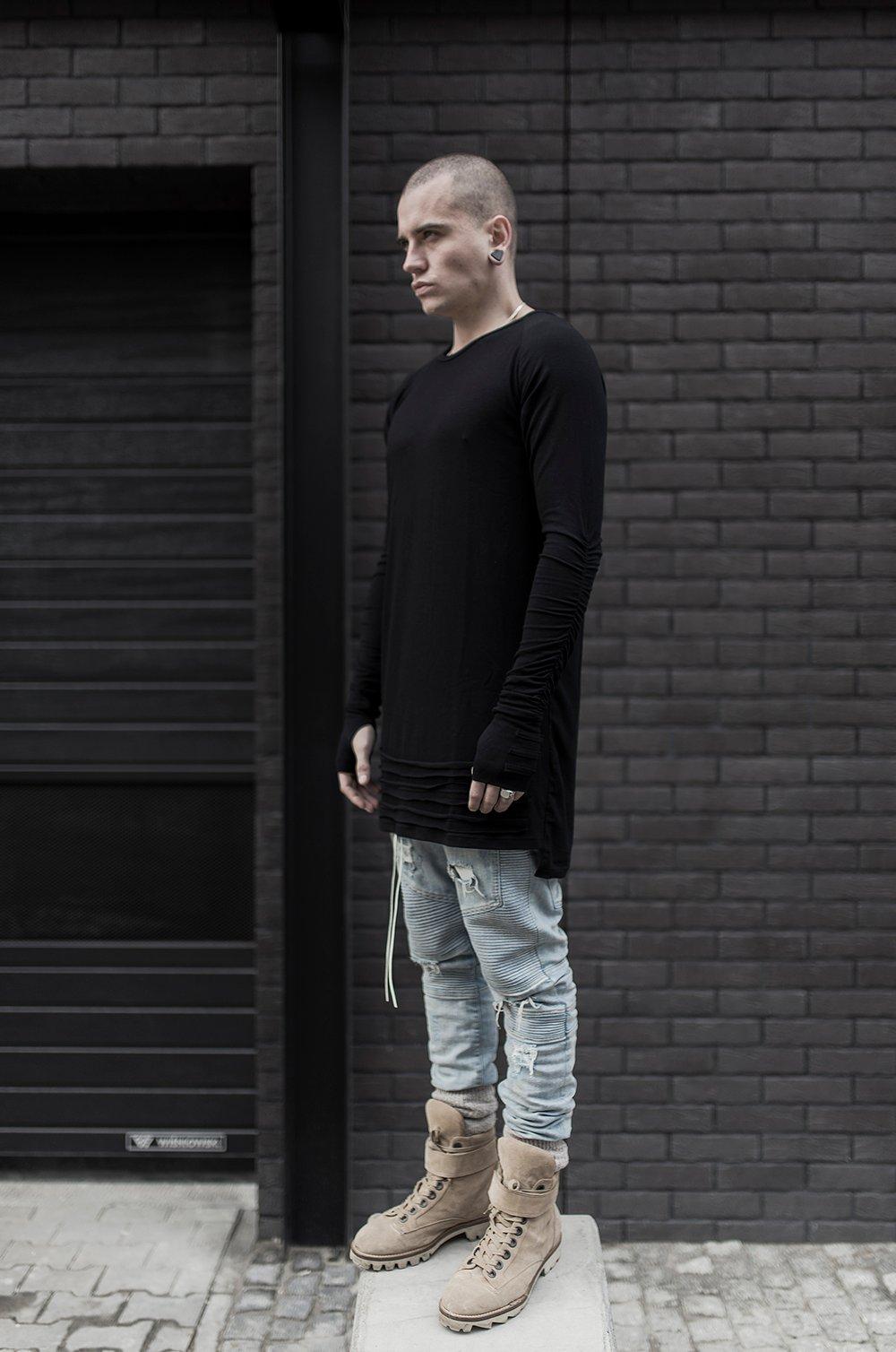Image of Urban Flavours Mental Extended LongSleeve Black