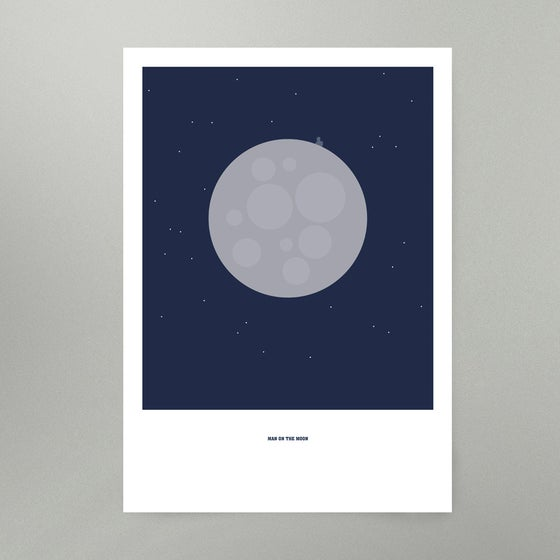 Image of Man On The Moon Art Print