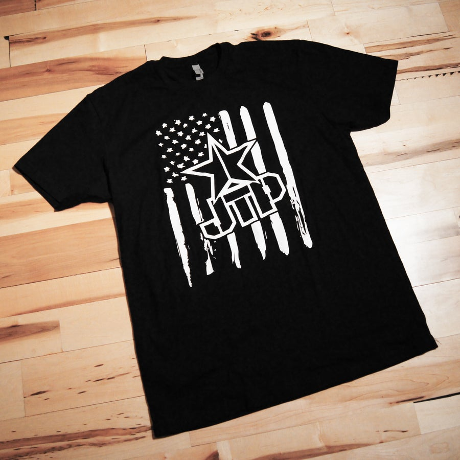 Image of FLAG TEE BLACK Size S