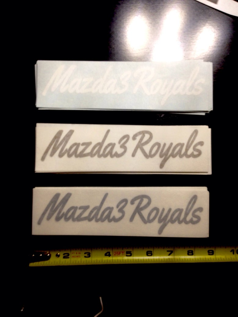 Image of Mazda3Royals Decal