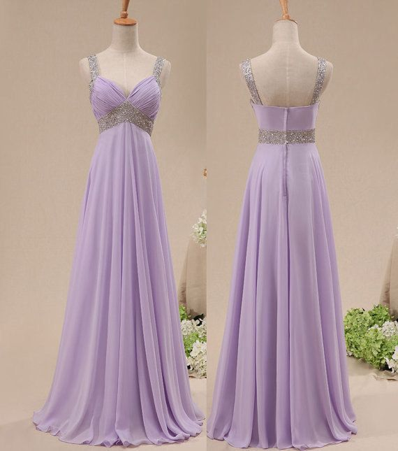 Pretty Lavender Sequins Prom Dresses , Long Prom Gown, Bridesmaid Dresses
