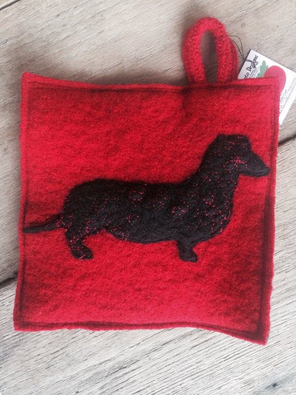 Image of Dachshund potholder