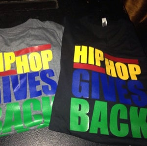 Image of MENS - Hip Hop Gives Back Letter Tee