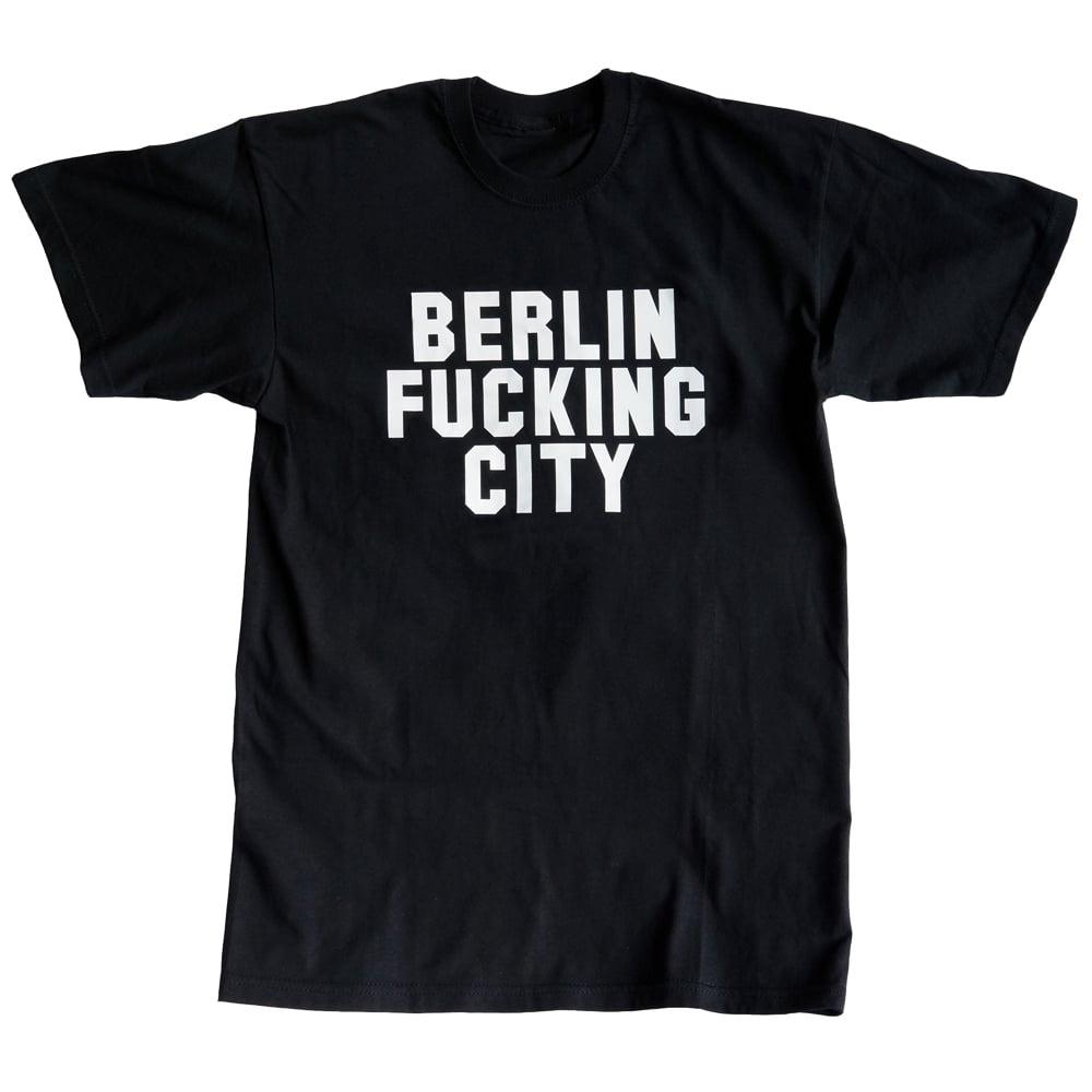 Image of BERLIN FUCKING CITY <br>men's / unisex shirt black