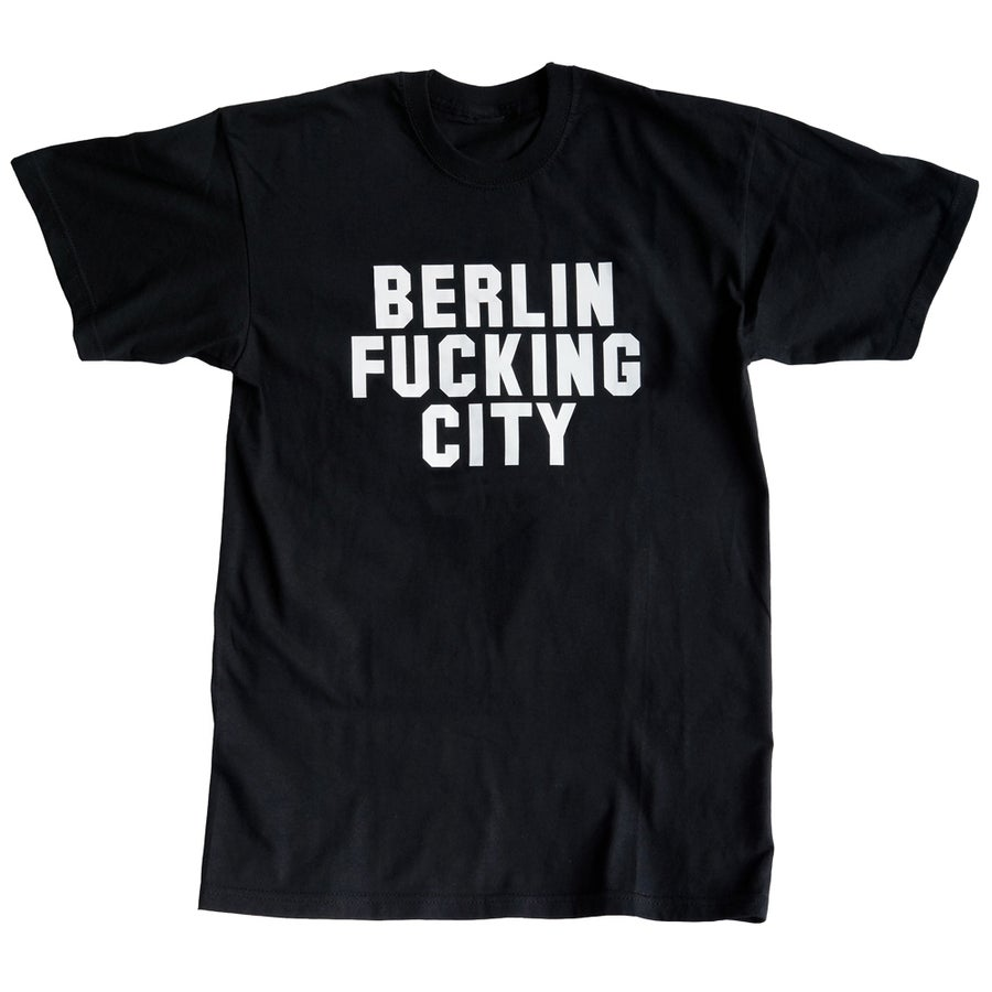 Image of BERLIN FUCKING CITY <br>men's / unisex shirt black