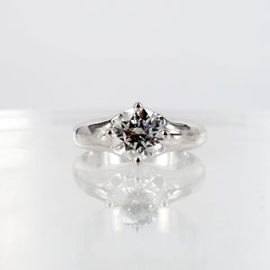 Image of Contemporary Four Claw Solitaire Diamond Ring