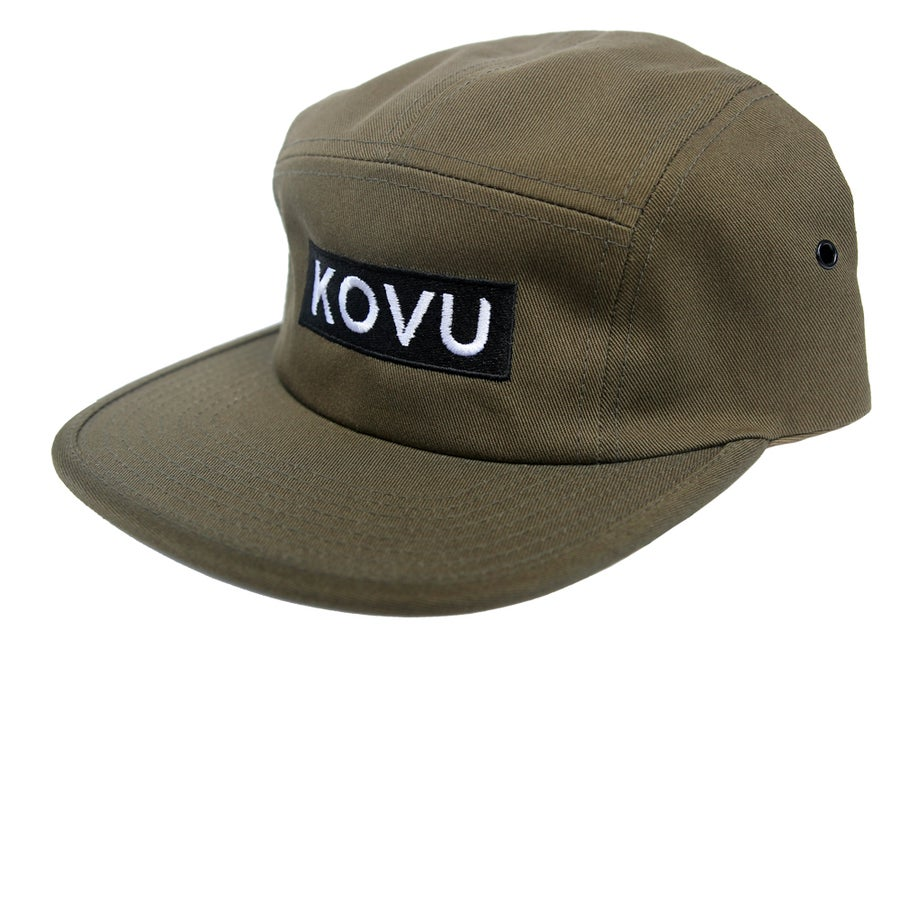 Image of OLIVE KOVU BOX LOGO FIVE PANEL