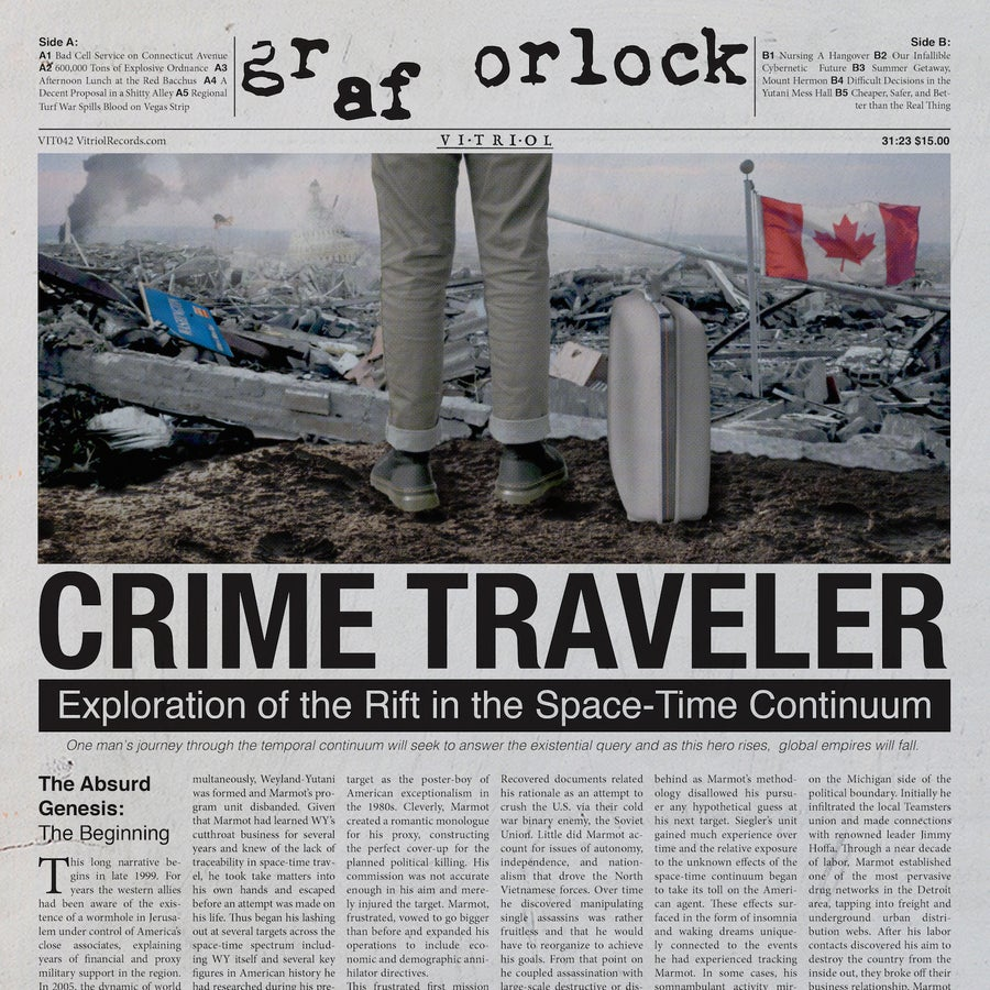 "Image of GRAF ORLOCK ""CRIMETRAVELER"" LP $15 Pre: Jan 4th, 8am PST"