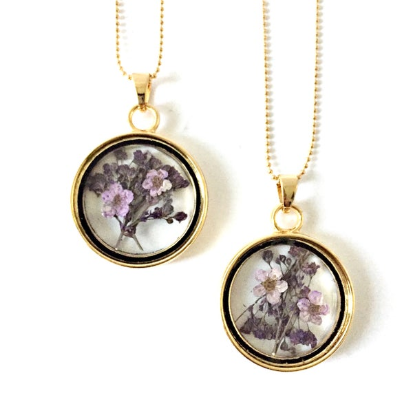 Image of Floral Posy Glass Locket
