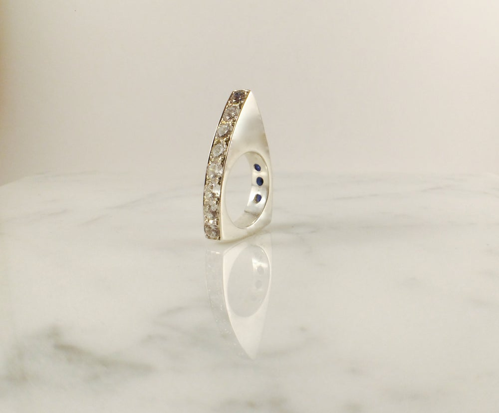Image of Encrusted Arrow Ring