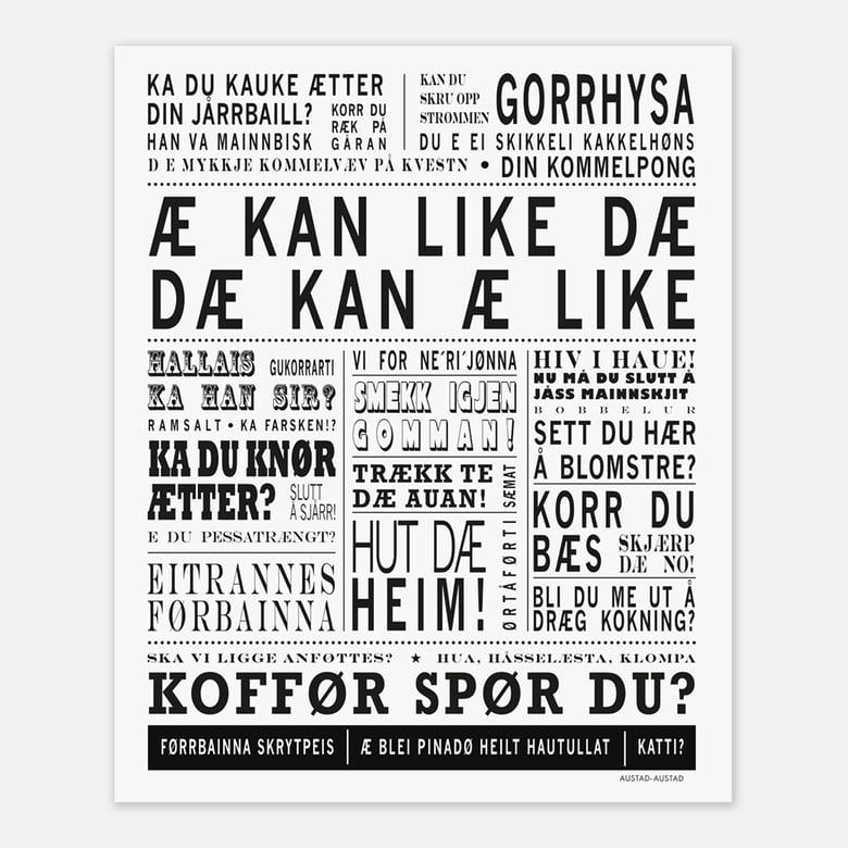"""Image of Troms plakat """"Æ kan like dæ"""""""