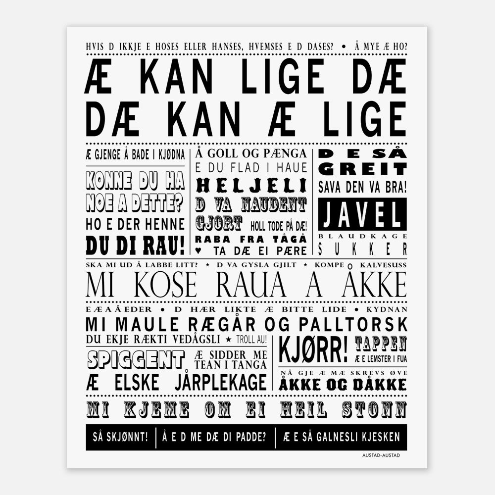 """Sørlandet plakat """"Æ kan lige dæ"""""""