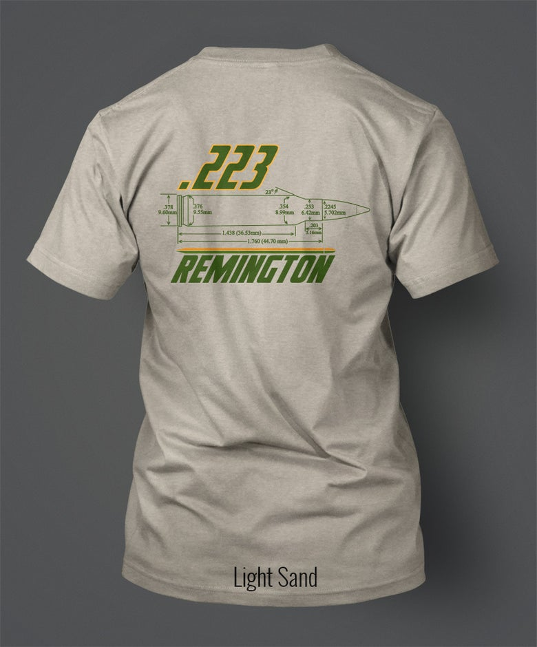 Image of .223 Remington T-Shirt - Front/Back Print