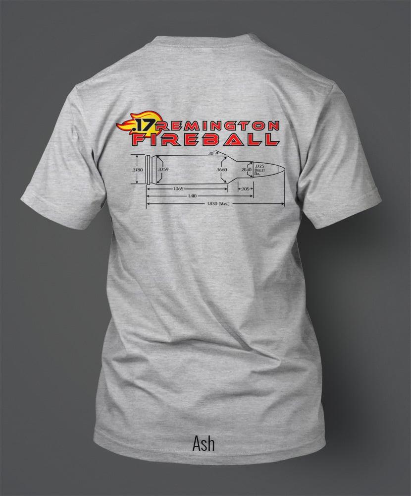 Image of .17 Remington Fireball T-Shirt - Yellow Ball of Fire Version