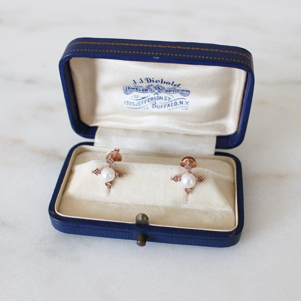 Image of Ella Cross Pearl Earring
