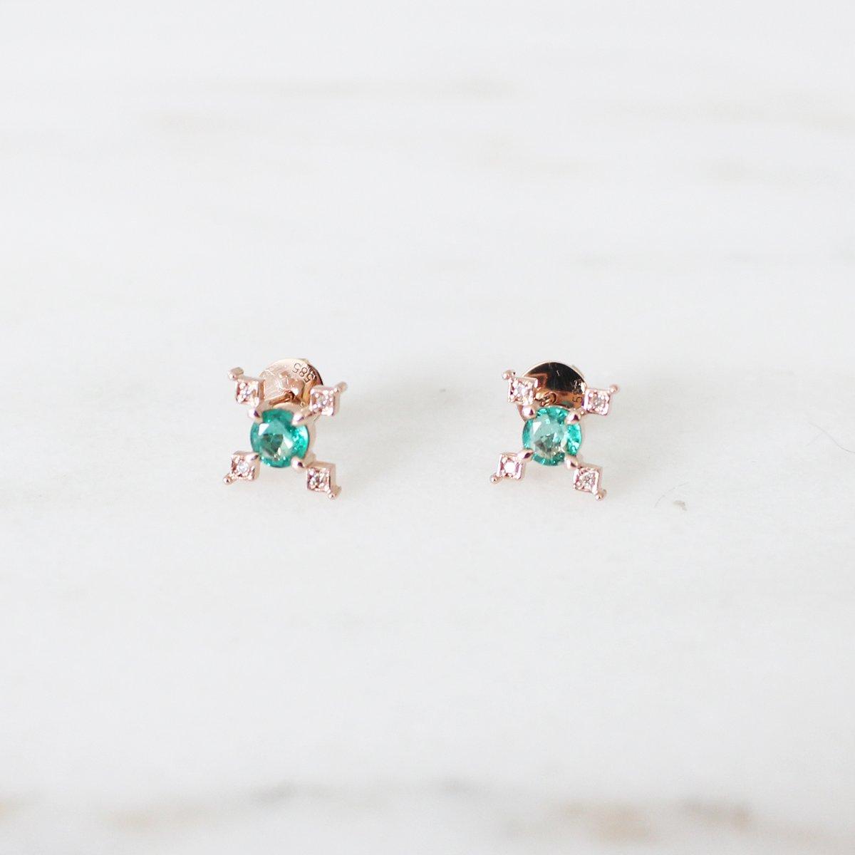 Image of Ella Cross Emerald Earring